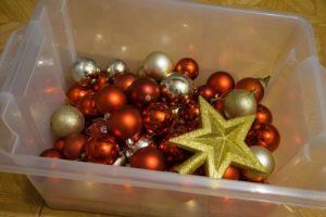 Garage Organization_holiday decoration container